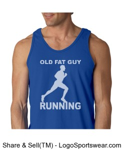 old fat guy tank w/back motto Design Zoom
